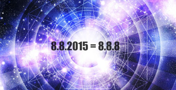 08/08/2015 = 888 infinity to the third.